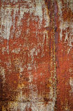 Metal texture with old paint and rust. Royalty Free Stock Photos