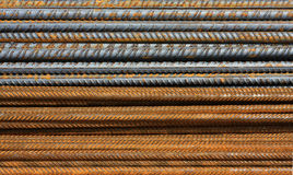 Metal Texture Pattern. Of rusty rebars royalty free stock images