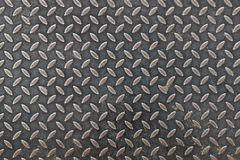 Metal texture and pattern. Metal texture diamond plate, industrial background, Aluminum dark list with rhombus shapes stock photo