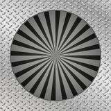 Metal texture plate. Sunburst retro black in vintage style Stock Photos