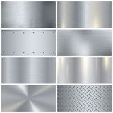 Metal Texture Realistic 3D Samples Collection Stock Image