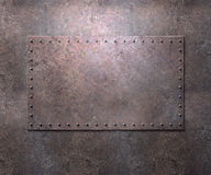 Metal texture with rivets background Stock Photo