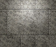 Metal texture with rivets background Stock Image