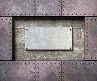 Metal texture with rivets background Royalty Free Stock Photo