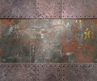 Metal texture with rivets background Royalty Free Stock Image