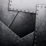 Metal texture with rivets Royalty Free Stock Photography