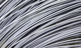 Metal Texture rolled steel cable Royalty Free Stock Images