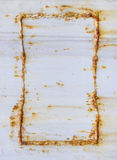 Metal texture with Rusty Frame Stock Photos