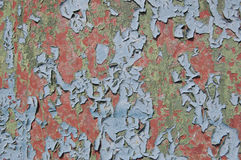 Metal texture with scratches and cracks, cracked paint Stock Photos