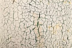 Metal texture with scratches and cracks. Cracking and peeling pa. Int on a wall Royalty Free Stock Image