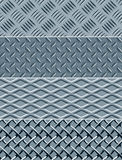 Metal texture seamless patterns Royalty Free Stock Image