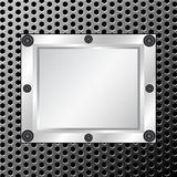 Metal texture with silver frame Stock Photo