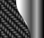 Metal texture smooth and braided. Stock Images