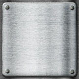 Metal texture template background. Steel plate. Royalty Free Stock Image