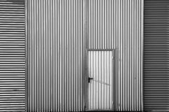 Metal textured door Stock Photo