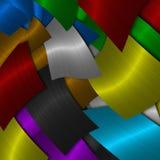 Metal texturerar stock illustrationer