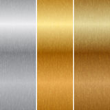 Metal textures. Vector illustration of metal textures Royalty Free Stock Images