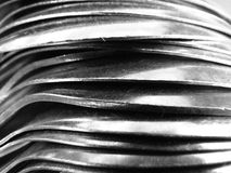 Metal Textures. A background texture in macro formed by steel spoon shapes Royalty Free Stock Photography