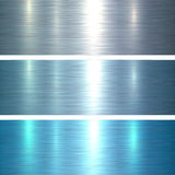 Metal textures blue. Brushed metallic background, vector illustration Royalty Free Stock Photo