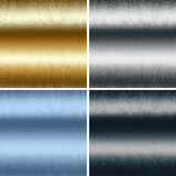 Metal textures collection, gold silver blue black Royalty Free Stock Photography