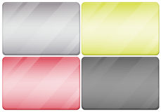 Metal textures in four colors Royalty Free Stock Photo