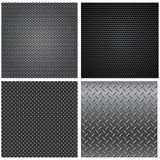 Metal Textures Seamless Patterns Royalty Free Stock Photos