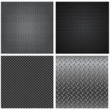 Metal Textures Seamless Patterns Royalty Free Stock Photos