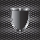 Metal textures and shield Royalty Free Stock Photo