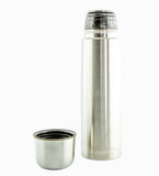 Metal Thermo flask isolate Royalty Free Stock Photography