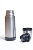 Metal thermos Stock Images