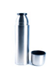 Metal thermos. Royalty Free Stock Photos