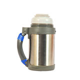 Metal thermos Stock Photo