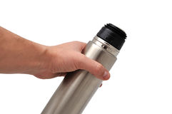 Metal thermos Stock Photography