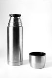 Metal thermos and cup Stock Images
