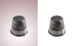 Metal thimbles isolated Stock Images