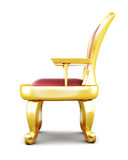 Metal throne  on white background. 3d rendering Royalty Free Stock Photo