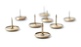 Metal thumbtack Stock Image