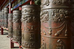 Metal Tibetan Prayer Wheels Stock Photos