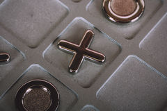 Metal tic tac toe board Vintage Retro Filter. Royalty Free Stock Images