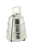 Metal Tiffin, Food Container on White Background Stock Photo