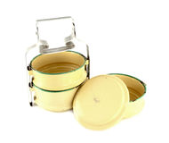 Metal Tiffin separate, Food Container. On White Background Stock Photography