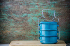 Metal tiffin, Thai food carrier Stock Photography