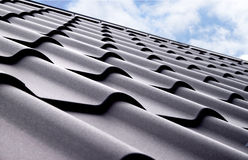 Metal tile. Material for roof Stock Images