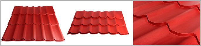 Metal tile, modern material for the roof of houses. The set is made specifically for specialized Internet sites stock illustration
