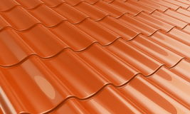 Metal tile orange Royalty Free Stock Photo