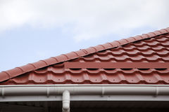 Metal tile roof Royalty Free Stock Photography