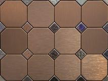Metal tiles Stock Images