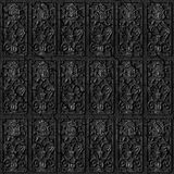 Metal tiles seamless background. Stock Images