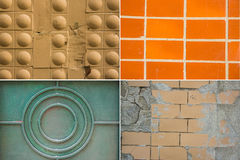 Metal and tiles texture Stock Photography