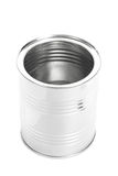 Metal Tin Can, Canned Food, isolated on white background. Empty Metal Tin Can without cap, Canned Food, isolated on white background royalty free stock photos